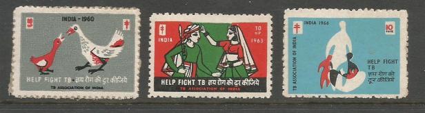 INDIA TB SEALS 1960