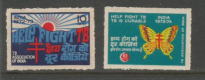INDIA TB SEALS 1972