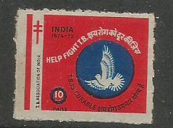 INDIA TB SEALS 1974
