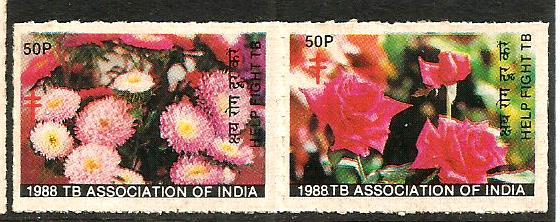 INDIA TB SEALS 1988