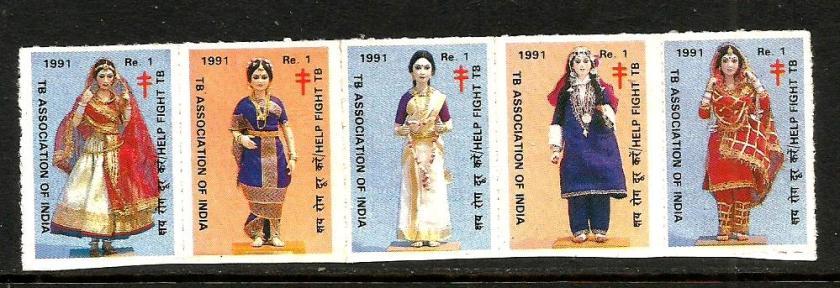 INDIA TB SEALS 1991