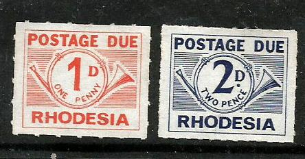 RHODESIA P DUE 1