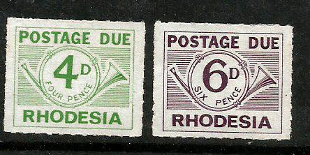 RHODESIA P DUE 2