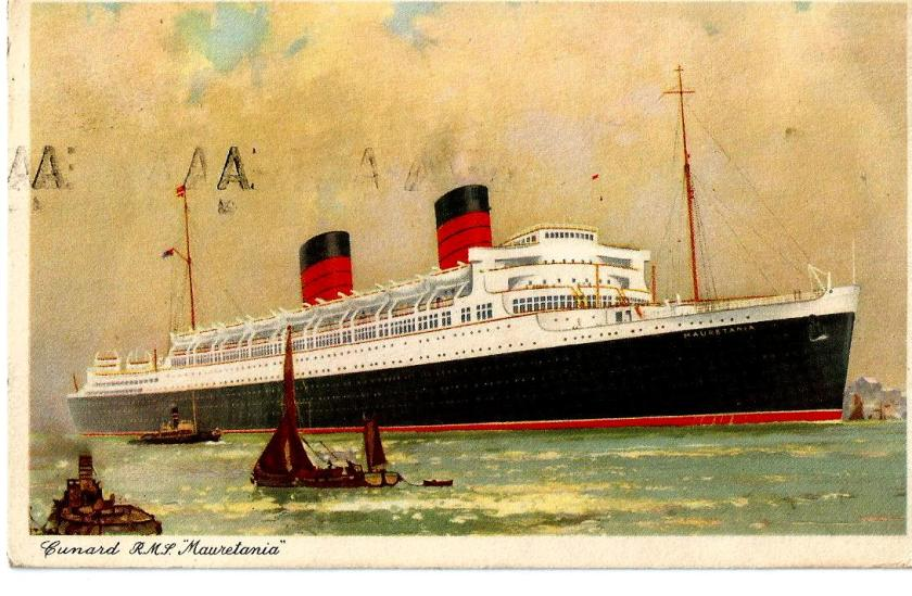 PAQUEBOT GB RMS MAURITANIA FRONT