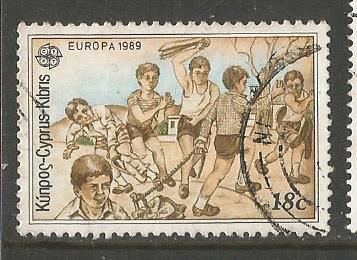 CYPRUS EUROPA 1989-CHILDREN'S GAMES -LIGRIN