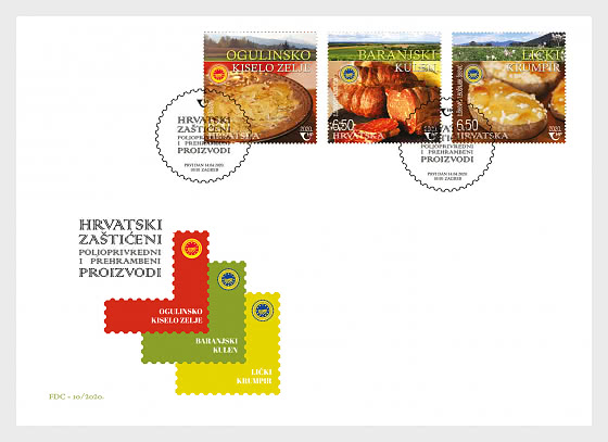 Croatia Food FDC