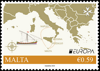 MALTA 2020 - EUROPA - ANCIENT POSTAL ROUTES