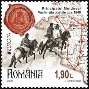 ROMANIA 2020- EUROPA - POSTAL ROUTES IN MOLDAVIA AND WALLACHIA.