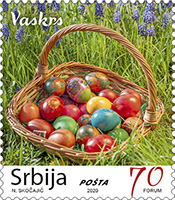 SERBIA 2020-COLOURED EASTER EGGS