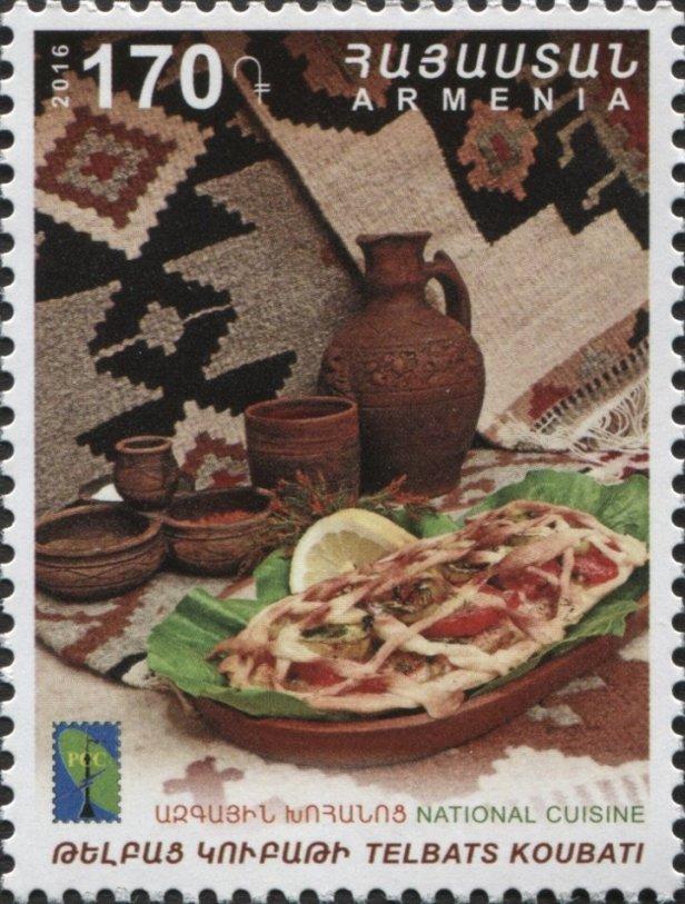 Armenia National Cuisine Telbats Koubati
