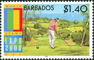Barbados 2000-Golfer at Tee