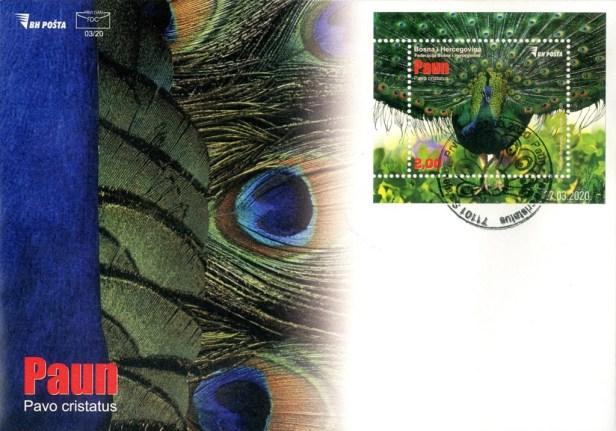 Bosnia Peacock FDC