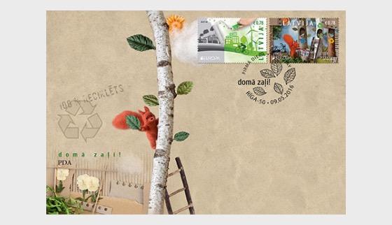Latvia Think Green fdc