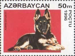 AZERBAIJAN 1996 -DOGS