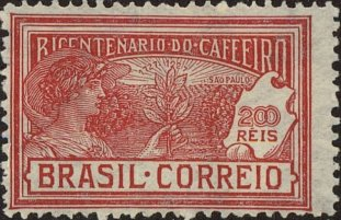 BRAZIL 1928 - COFFEE BICENTENARY