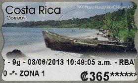 COSTA RICA - ATM LABELS - MARINE LIFE