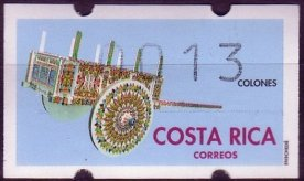 COSTA RICA -ATM LABELS -CARTS