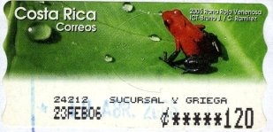 Costa Rica Frog poison
