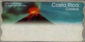 COSTA RICA -ATM STAMPS -VOLCANOES