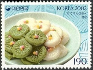 SOUTH KOREA 2002- RICE CAKES -DESSERTS