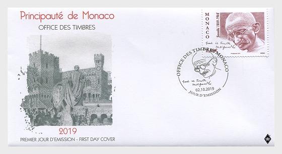 Monaco Gandhi FDC