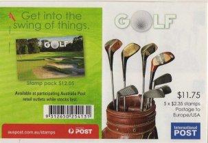 AUSTRALIA 2011-GOLF CLUBS SET