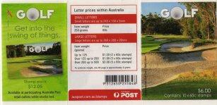 AUSTRALIA 2011 - BOOKLET ON GOLF