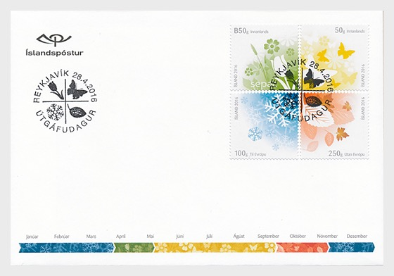 Iceland Seasons FDC