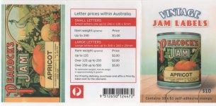 AUSTRALIA 2018 - PEACOCK JAM LABELS